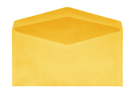 package sending: Yellow Envelope isolated on white with a clipping path