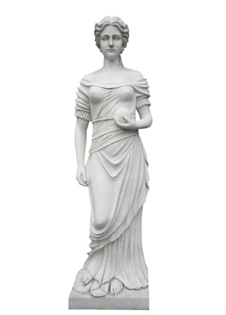 Marble statue isolated on white with Clipping Path
