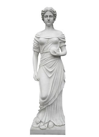 Statue en marbre isolé sur blanc avec Clipping Path Banque d'images - 67803212