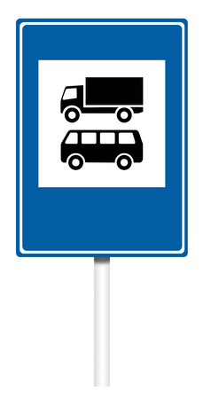 informative: Informative sign isolated on white, illustration - Transport control