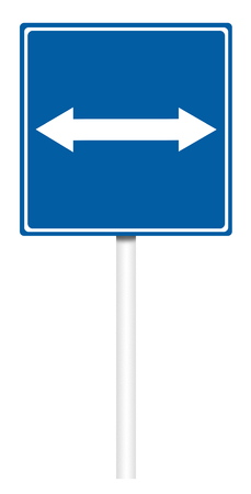 informative: Informative sign isolated on white, illustration - The road with Reverse
