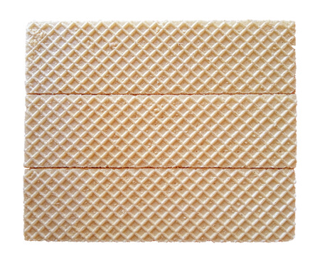 Bloc de gaufres isolé sur blanc avec un tracé de détourage Banque d'images - 75627876
