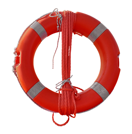 Lifebuoy isolated on white with Clipping Path