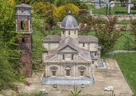 Rimini, Italy - June 13, 2017: Italy in miniature, a thematic park in Emilia Romagna. Was built Ivo Rambaldi in 1970 Editorial