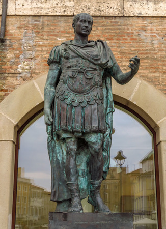 Statue of Gaius Julius Caesar in Rimini, Italy