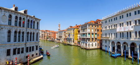 venice: Venice, Italy - June 20, 2017: View of Venice from the Grand Canal