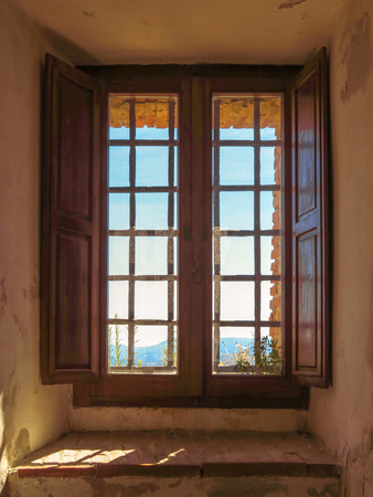 Window of the Fortress of San Leo, Italy