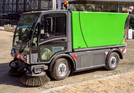 Almaty, Kazakhstan - September 8, 2017: Cleaning machine on the street in Almaty