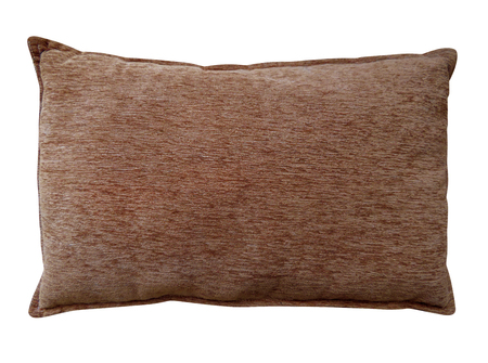 Brown pillow isolated on white with Clipping Path