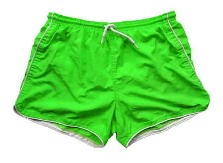 Green swimming shorts isolated Standard-Bild