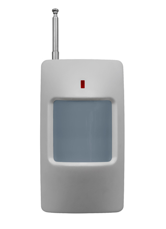 Infrared movement sensor isolated on a white. Clipping path included.