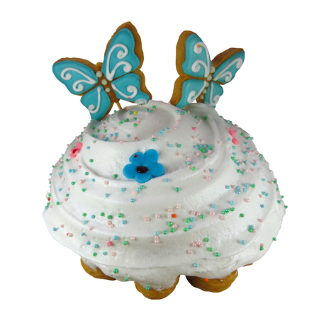 Easter cake isolated on white. Clipping Path included.