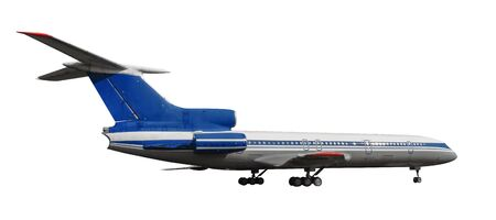 Scale model of old Tu-154 is a Soviet airlifter designed by the Tupolev design bureau.  with  .