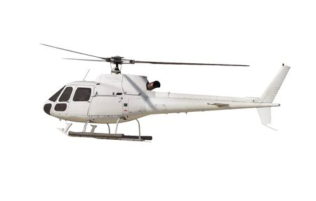 Helicopter isolated on white. with . Stock Photo