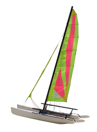 Sailing Catamaran isolated on white background.  with  . 写真素材