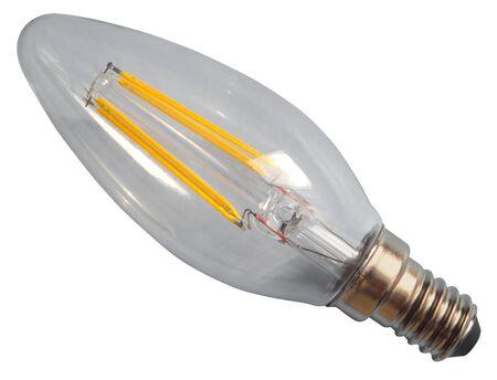 Edison lamp isolated on white
