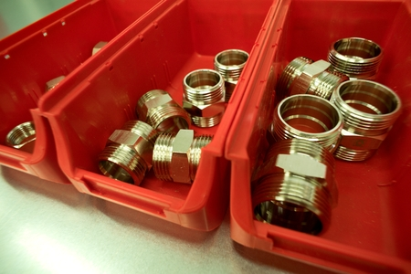 Stainless steel threads, hose and pipe couplings.