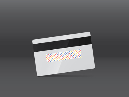 residue: Realistic vector credit card. Business and finance. Front side in the portfolio! Illustration