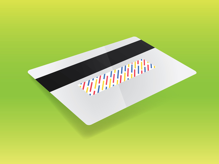 residue: Realistic 3d vector credit card. Business and finance. Front side in the portfolio!