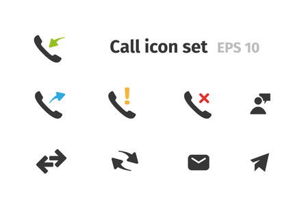 Telephone icon set Иллюстрация
