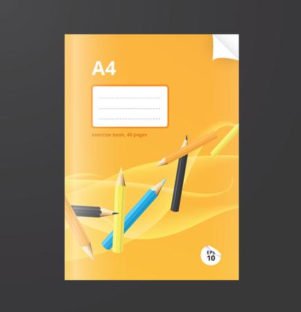 Childlike notebook design.