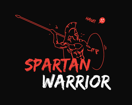 Spartan warrior illustration. 向量圖像