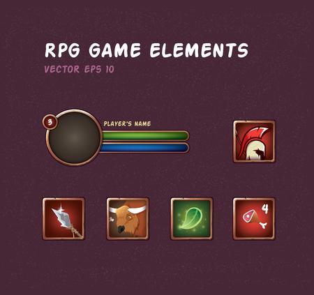 Set of blank frame for rpg game.
