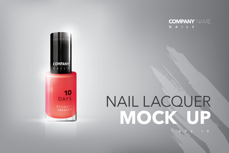 Realistic vector nails lacquer mock up.