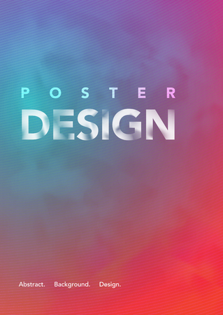 Colorful abstract background for A4 poster.
