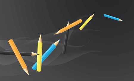 Realistic vector pencil background. 向量圖像