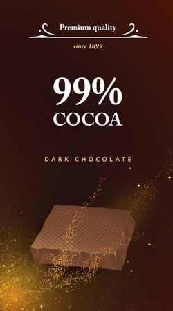 Dark chocolate cover design.