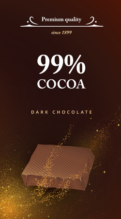 Diseño de la cubierta de chocolate oscuro. Foto de archivo - 86621517