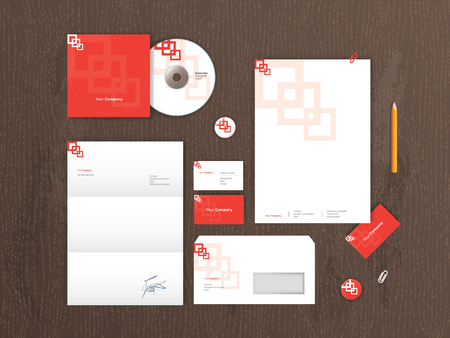 Vector stationery mock up.