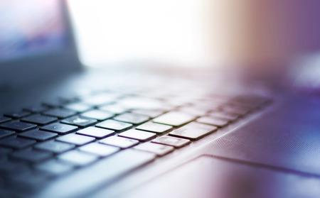 Blurred close up keyboard. 版權商用圖片