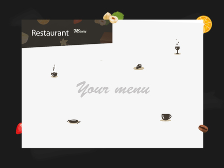 Modern menu for restaurant