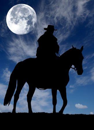 vaquero:   silueta de vaquero
