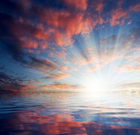 billow: sunset  Stock Photo