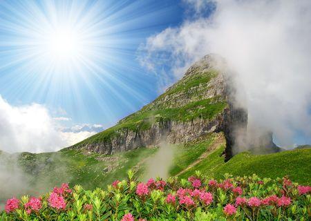 Tour d Ai Swiss alps Stock Photo