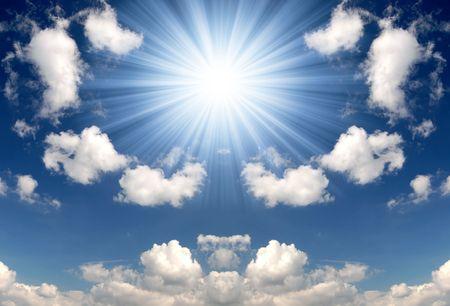 insolaci�n: Fondo de cielo soleado  Foto de archivo