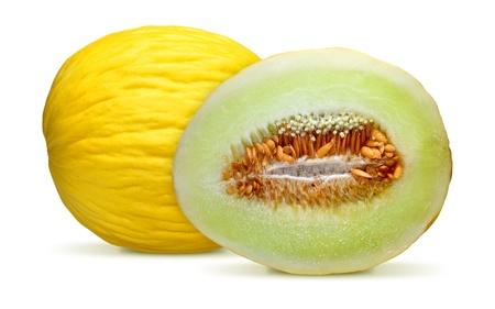cantaloupe melon isolated on white background Stock Photo - 8277418
