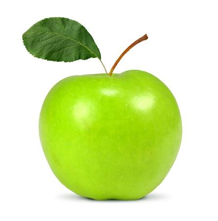 manzana verde: manzana aislado en blanco