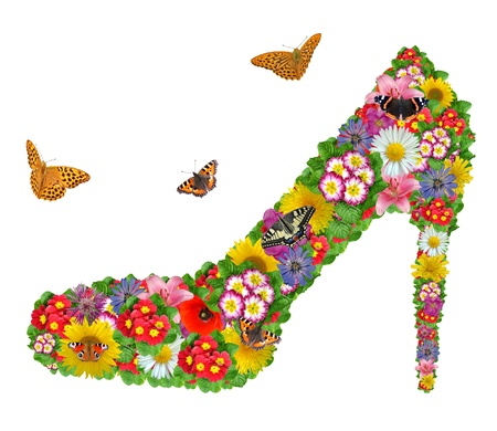 Shoes from the flowers Stock Photo - 8277448