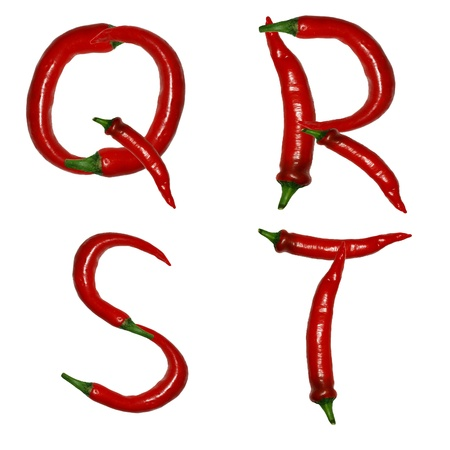 alphabet of peppers photo
