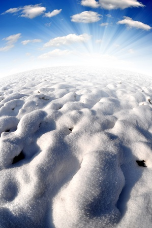 Snowy winter landscapes - Fisheye photography  Stock Photo - 8493953