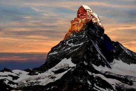sunrise on the Matterhorn photo