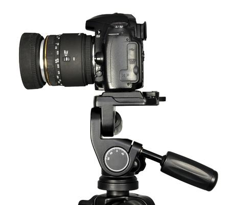 dslr camera: Dslr camera on a tripod