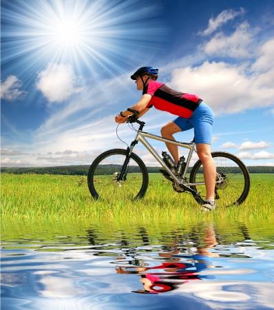mountain biker  Stock Photo - 8579848