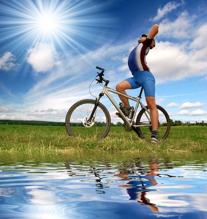 mountain biker  Stock Photo - 8689376
