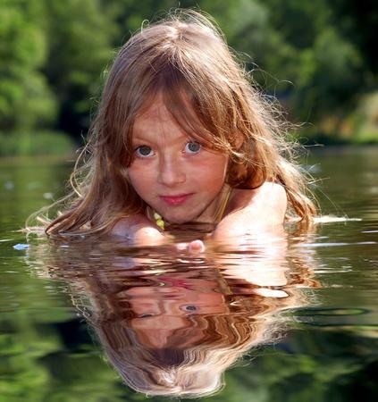 swimming girl photo