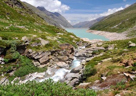 Dam Mattmark-Swiss Alps Stock Photo